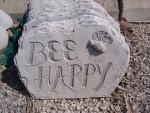 Bee Happy Garden Stone
